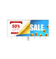sale fifty percent discount billboard with vector image vector image