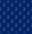seamless travel pattern with yacht line style vector image vector image
