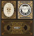 set 3 cards with vintage motives vector image vector image