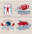 set american football or rugclub badge vector image