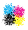 smyc blot of dots vector image vector image