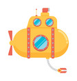 transportation submarine flat icon vector image vector image