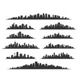 urban cityscape silhouettes vector image vector image