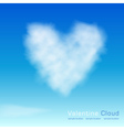 Valentine cloud vector image vector image