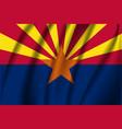 waving flag arizona 10 eps vector image vector image