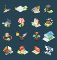 wealth management isometric icons vector image vector image