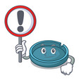 with sign ashtray character cartoon style vector image