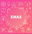 xmas modern line christmas vector image vector image