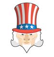 Uncle Sam icon Patriotic American hero USA vector image