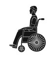 a man with a trauma in a wheelchair medicine vector image