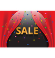 confetti with gold sale banner vector image