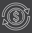 exchange line icon business and finance dollar vector image
