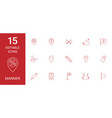 15 marker icons vector image vector image
