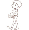 A simple sketch of a male teacher vector image vector image