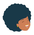 african american woman face vector image vector image