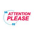 attention please labels speech bubbles