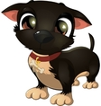 beautiful black dog on a white background vector image vector image