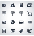 black shop icon set vector image