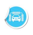 car wash BLUE LABEL vector image vector image