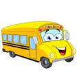 cartoon school bus vector image