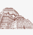 cathedral of santa maria del fiore in florence vector image