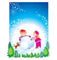 christmas happy children vector image vector image