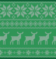 christmas seamless green pattern nordic style vector image vector image