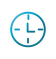 clock time user interface blue gradient vector image