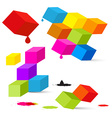 Colorful Cubes vector image vector image