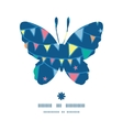 colorful doodle bunting flags butterfly silhouette vector image vector image