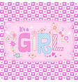 cute seamless pattern for girls in pink tones vector image vector image