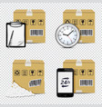 delivery icons isolated on transparent background vector image