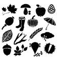 doodle autumn images vector image
