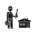 electric work black concept icon electric vector image