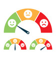 feedback concept valuation by emoticons vector image vector image