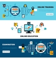 Flat Online Education Banners Collection vector image vector image
