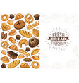 fresh bread poster ilustration vector image vector image