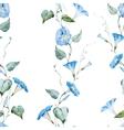 Gentle watercolor floral pattern vector image vector image
