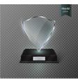 glass trophy award shieldthe vector image