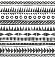 hand drawn tribal pattern Primitive vector image vector image