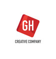 initial letter gh logo template design vector image vector image