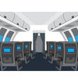 Interior of salon of the plane vector image