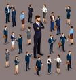 isometric 3d big boss businessman leader vector image vector image