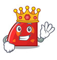king quadrant mascot cartoon style vector image vector image