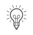 light bulb and pencil logo template creative idea vector image vector image