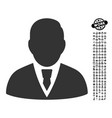 manager icon with professional bonus vector image vector image