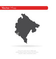 map montenegro isolated vector image