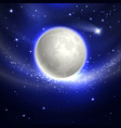 moon in the night sky vector image vector image