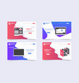 new trendy website landing pages theme template vector image vector image