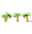 palm trees cartoon 3d plasticine art objects vector image vector image